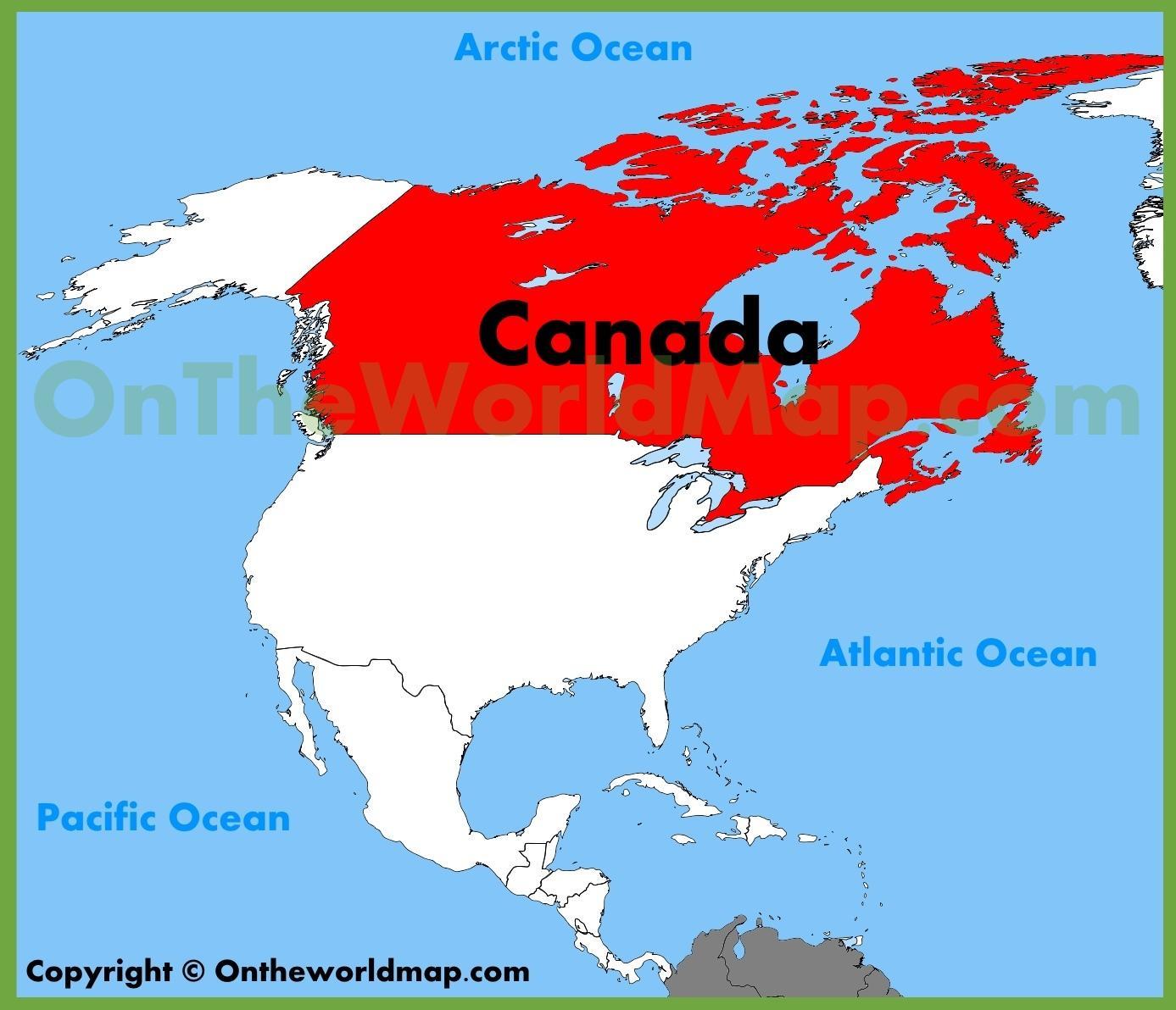 Karte Von Amerika Und Kanada Kanada Amerika Karte Nordamerika