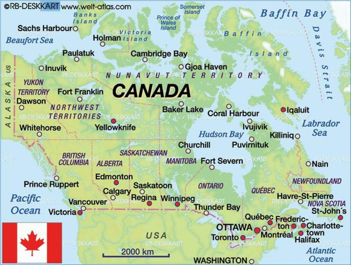 Fahren Karte Von Kanada Karte Kanada Fahren Nord Amerika Amerika