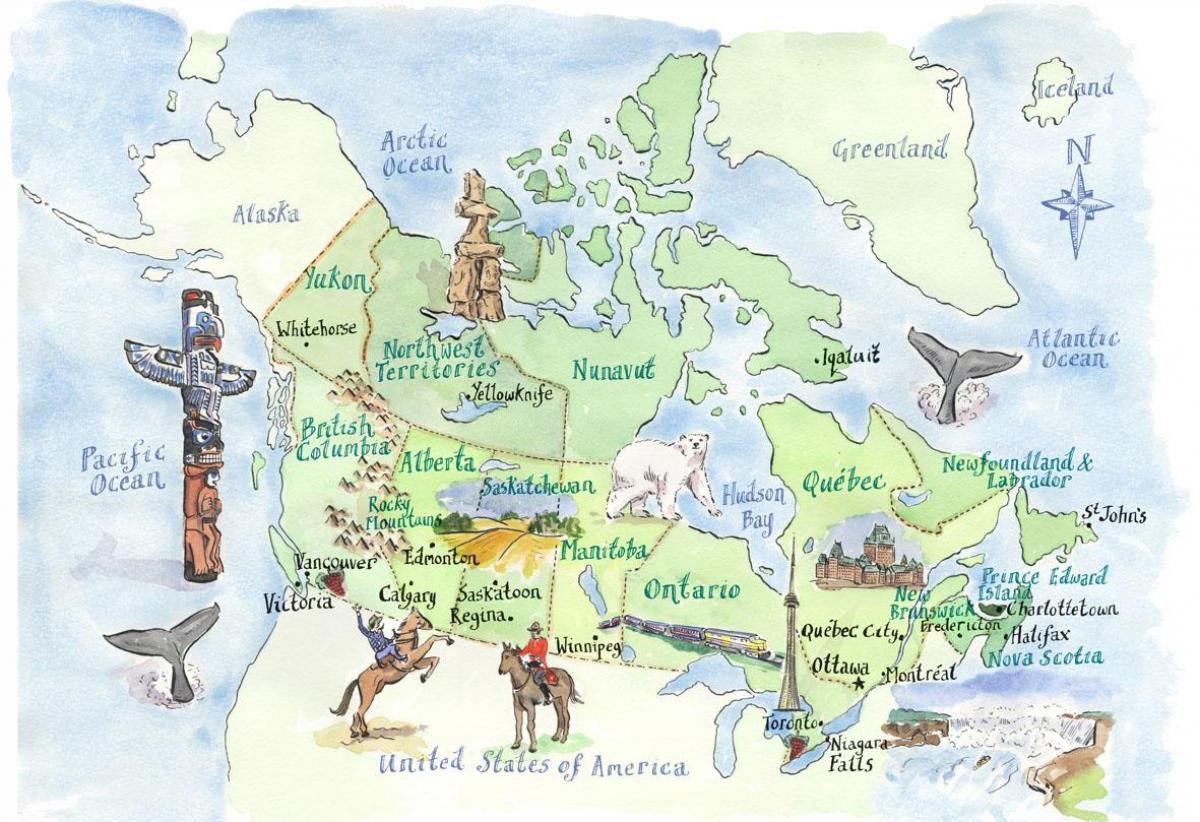 Kanada Sehenswurdigkeiten Karte Karte Von Kanada