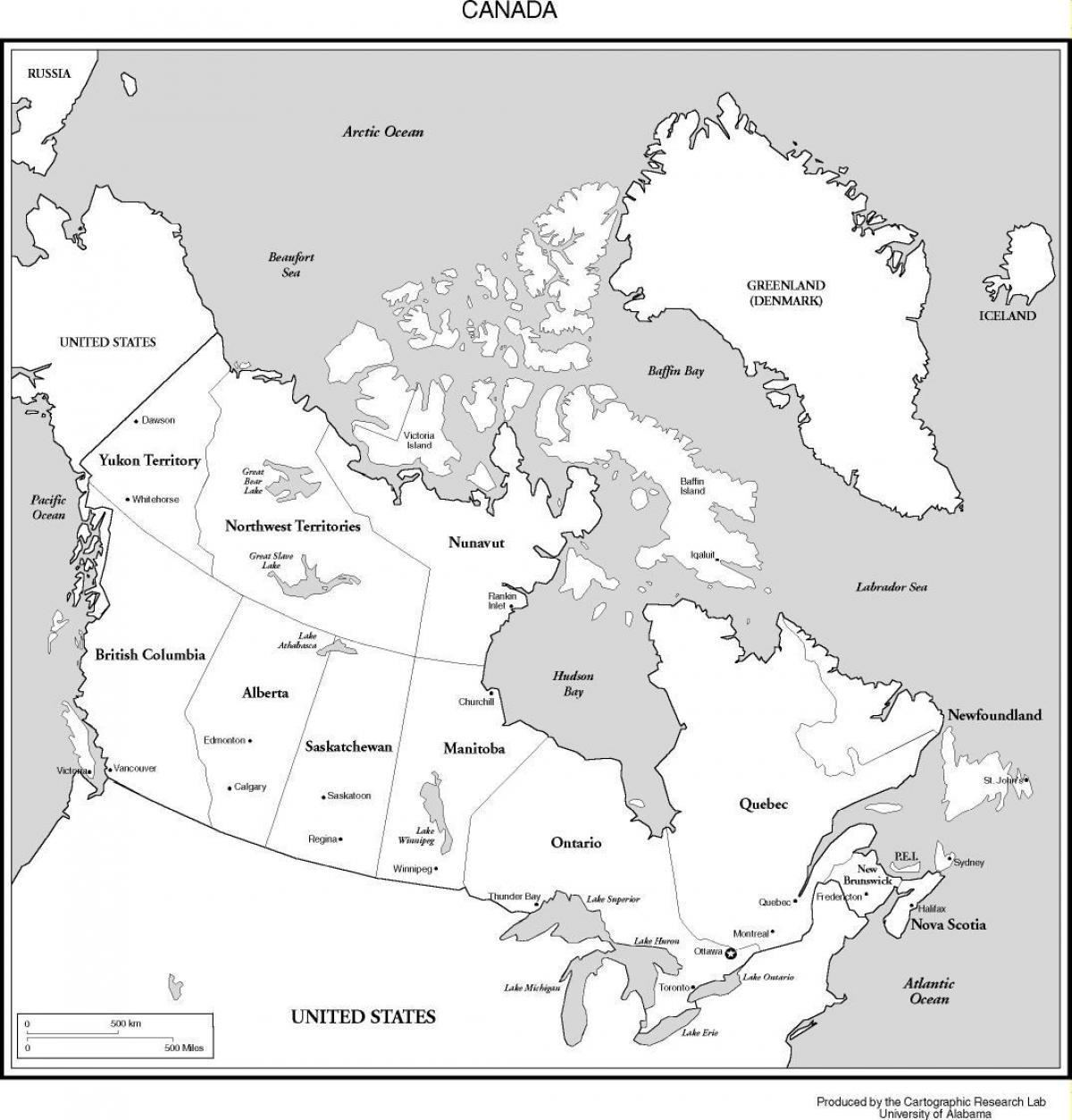 Amerika Karte Schwarz Weiß.Karte Von Kanada In Schwarz Und Weiß Kanada Karte Schwarz Und