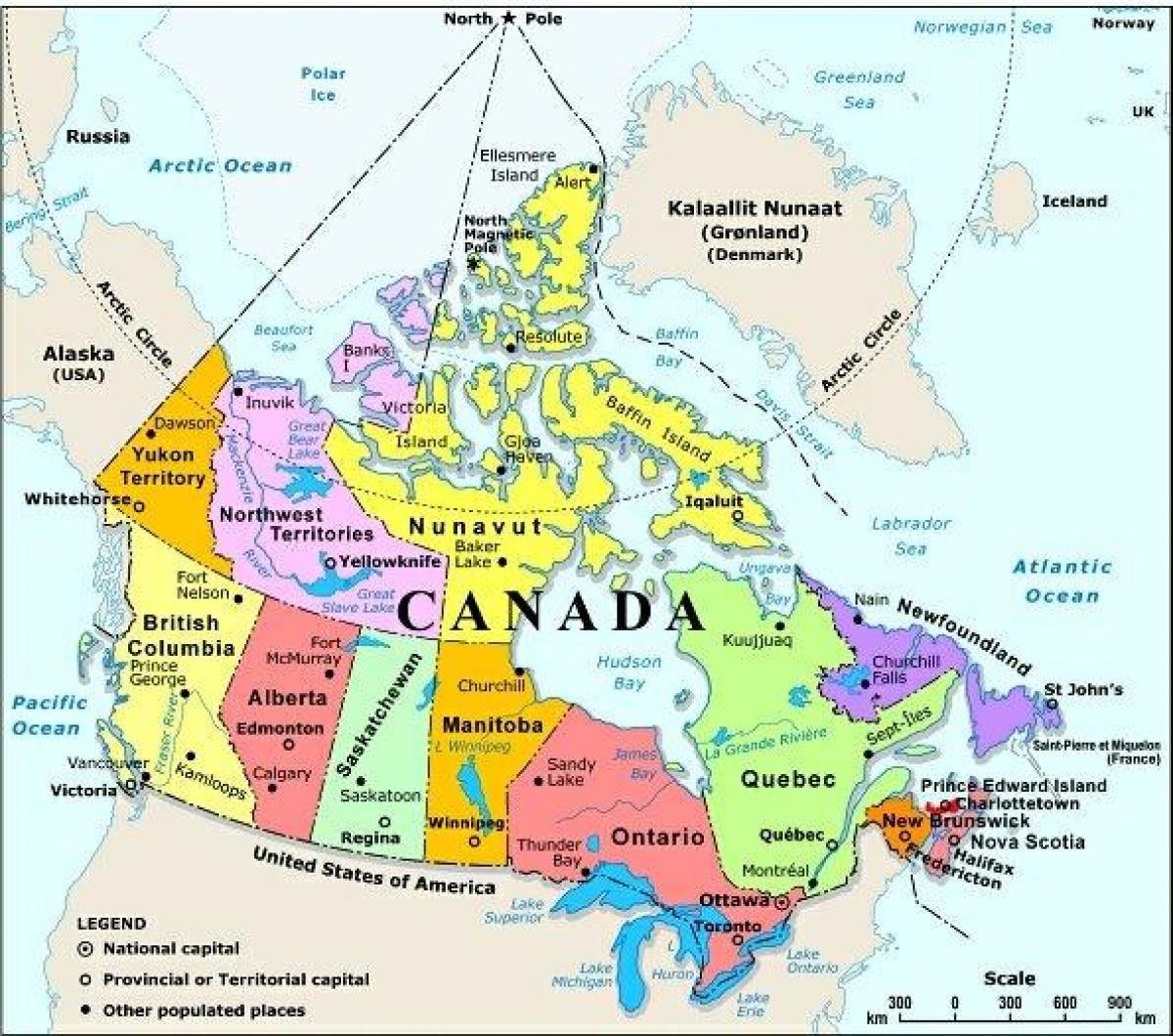 West Kanada Landkarte Mit Stadte Karten Von West Kanada Mit